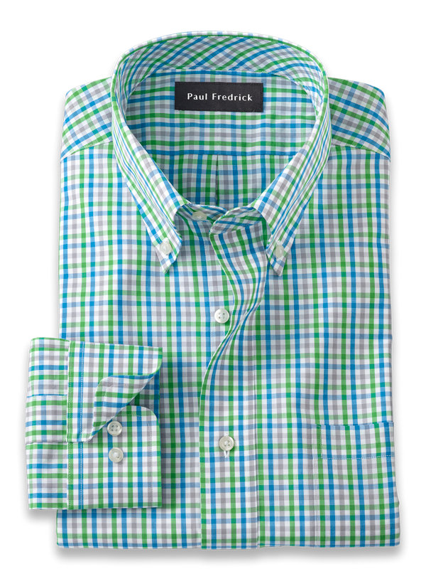 Pure Cotton Gingham Dress Shirt