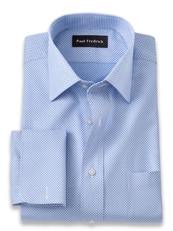 Slim Fit Pure Cotton Dot Pattern Dress Shirt