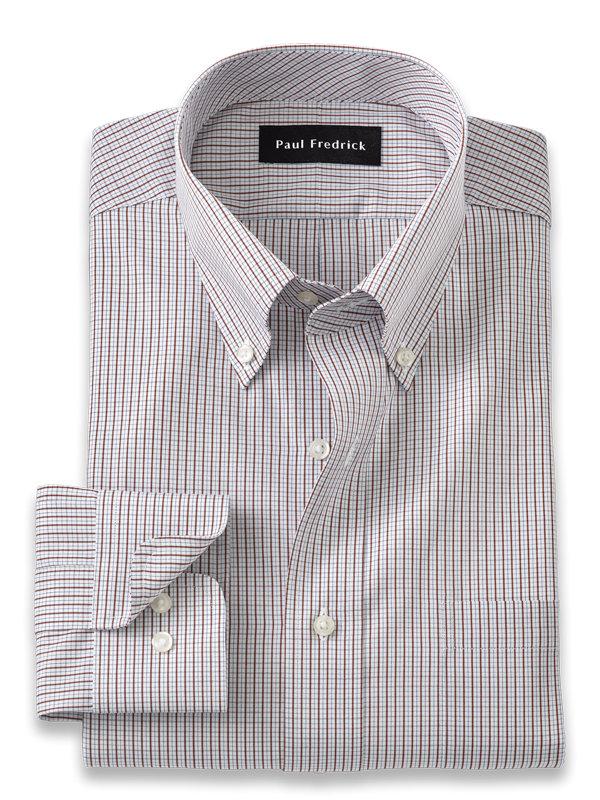 Pure Cotton Grid Dress Shirt