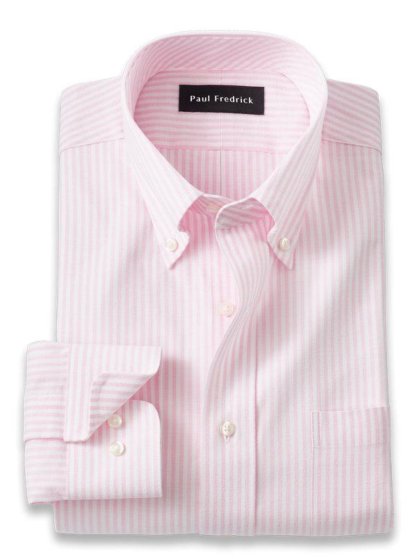 Slim Fit Pure Cotton Bengal Stripe Dress Shirt