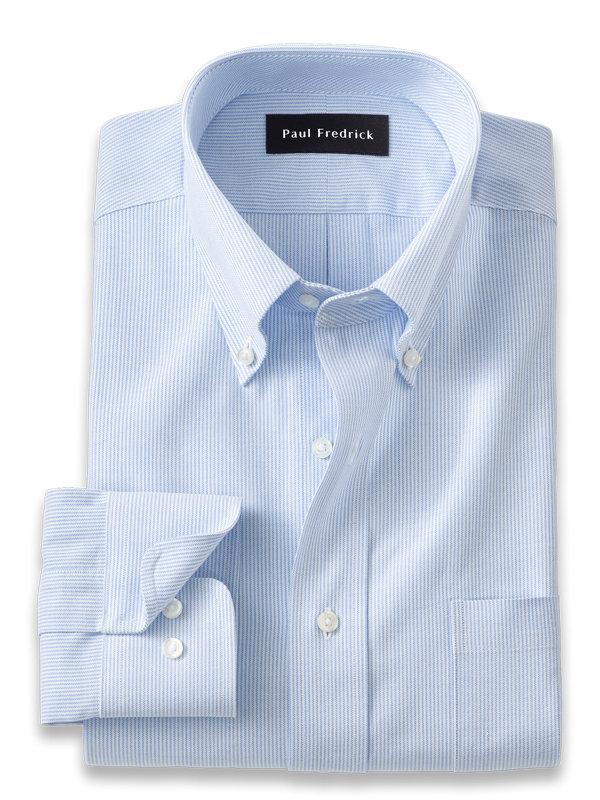 Slim Fit Pure Cotton Fine Line Stripe Dress Shirt
