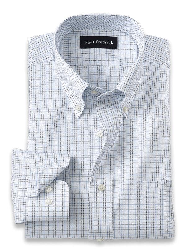 Pure Cotton Mini Check Dress Shirt