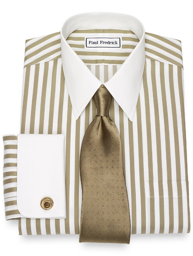 Non-Iron Cotton Stripe Dress Shirt