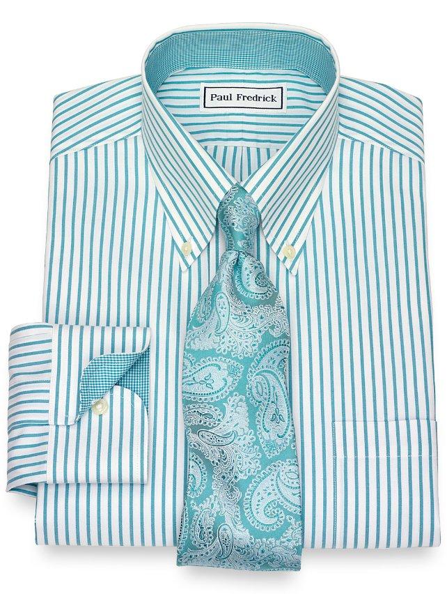 Slim Fit Non-Iron Stripe Dress Shirt