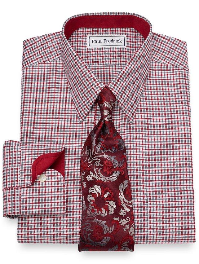 Non-Iron Cotton Houndstooth Dress Shirt