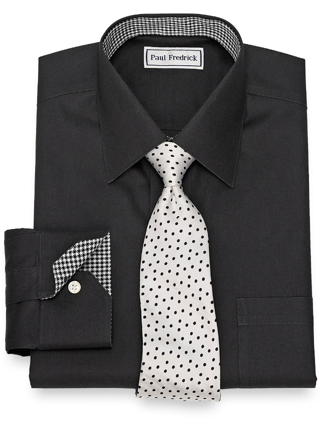 Slim Fit Non-Iron Cotton Solid Dress Shirt