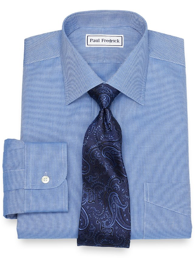 Non-Iron Cotton Solid Royal Oxford Dress Shirt