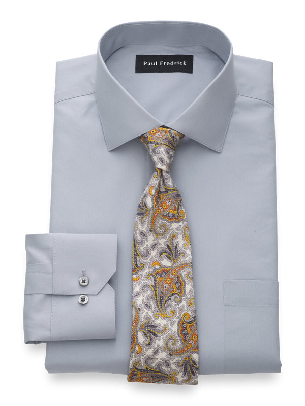 Non-Iron Supima Cotton Solid Dress Shirt