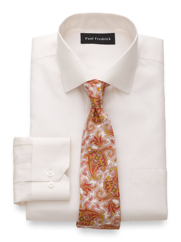 Tailored Fit Non-Iron Supima Cotton Solid Dress Shirt