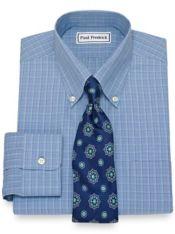 Non-Iron Cotton Check Dress Shirt