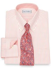 Non-Iron Cotton Bengal Stripe Dress Shirt