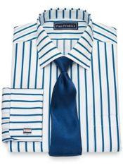 Cotton Satin Stripe Dress Shirt