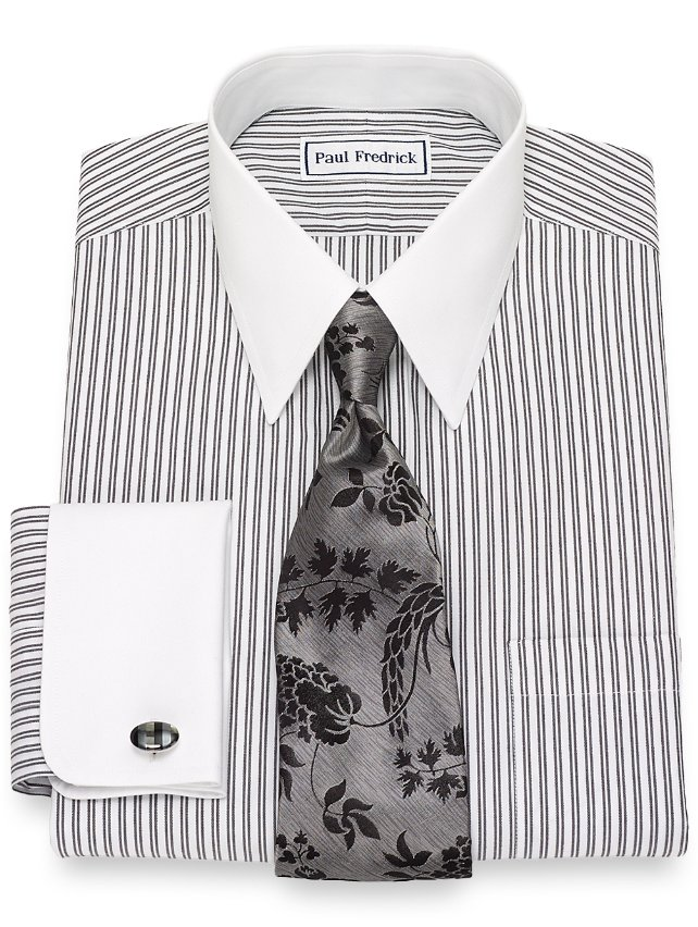 Non-Iron Cotton Twin Stripe Dress Shirt