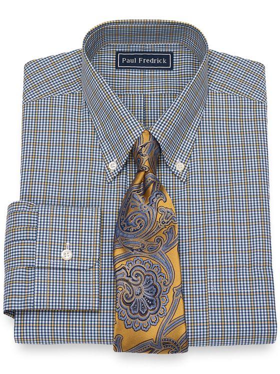 Slim Fit Cotton Check Dress Shirt