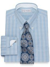 Non-Iron Cotton Glen Plaid Dress Shirt
