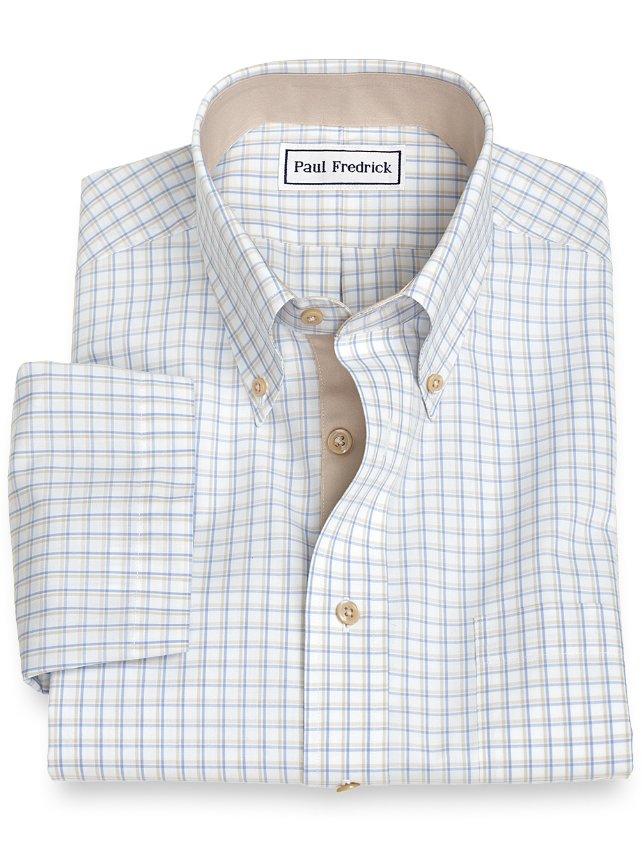Non-Iron Cotton Tattersall Short Sleeve