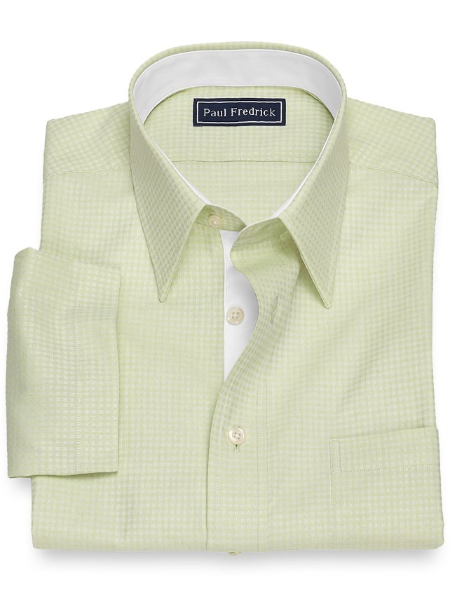 Slim Fit Cotton Twill Box Short Sleeve