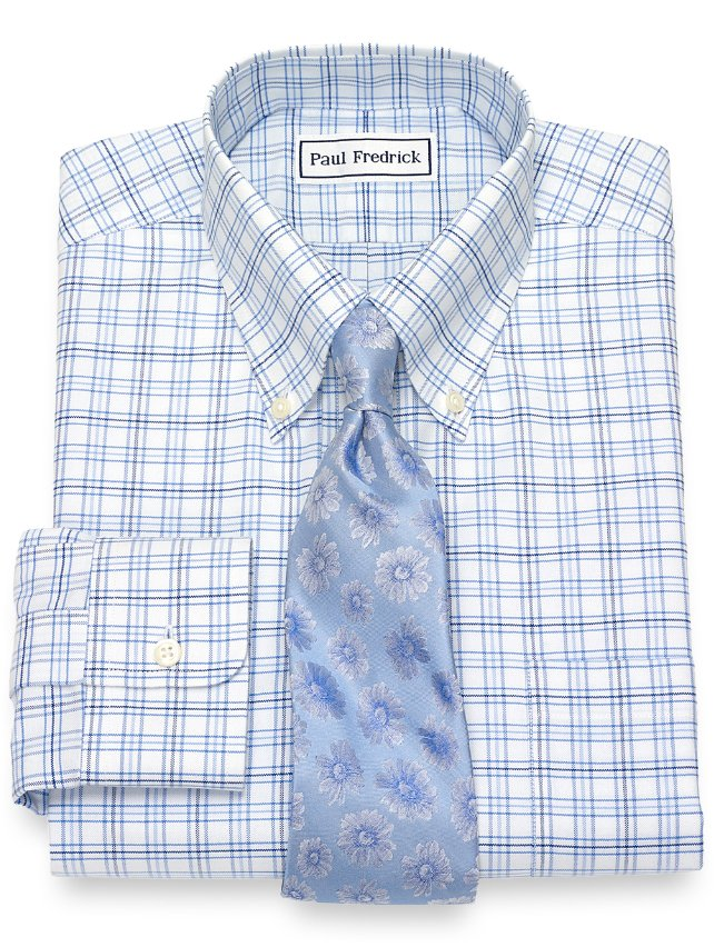 Non-Iron Supima Cotton Tattersall Dress Shirt
