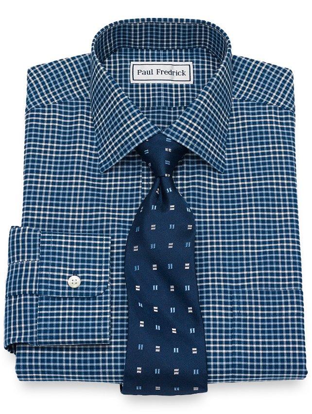 Non-Iron Supima Cotton Check Dress Shirt