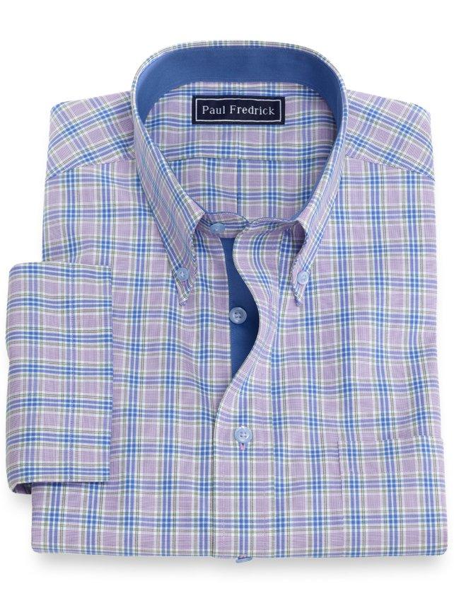 Cotton Plaid Short Sleeve