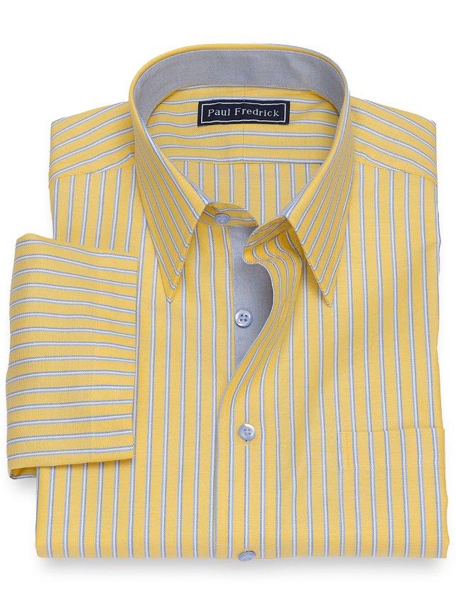 Cotton Twin Stripe Short Sleeve