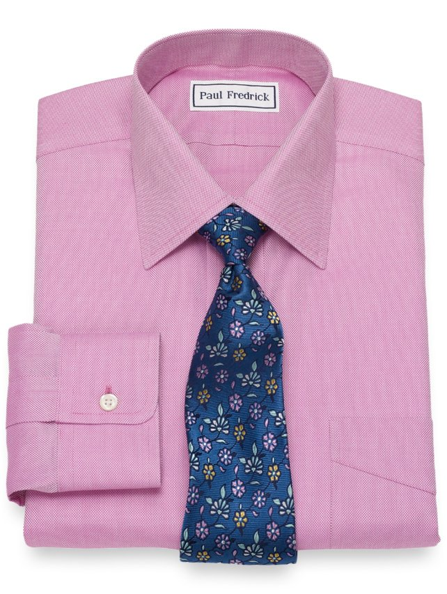 Non-Iron Cotton Royal Oxford Solid Dress Shirt