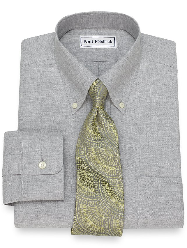 Non-Iron Supima Cotton Textured Solid Dress Shirt