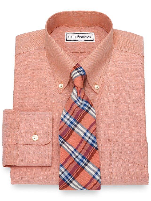 Non-Iron Supima Cotton Textured Solid Dress Shirt