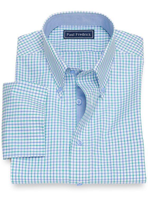 Cotton Grid Short Sleeve