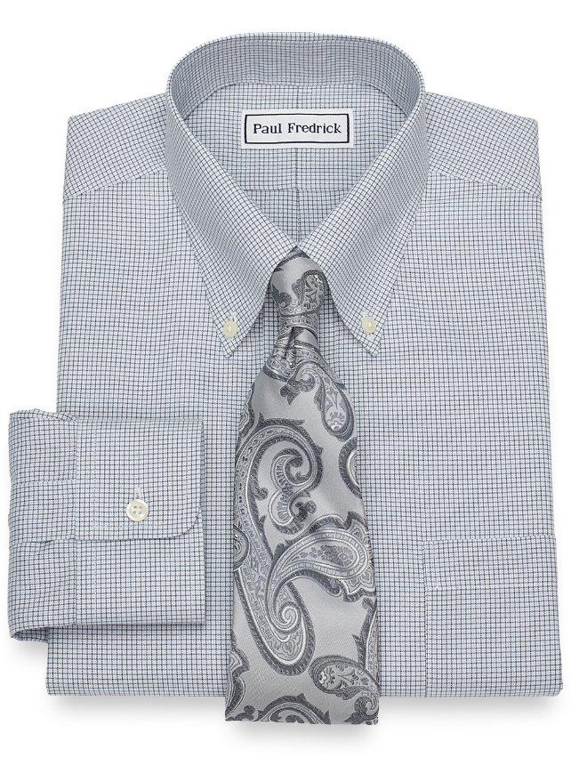 Non-Iron Supima Cotton Mini Check Dress Shirt