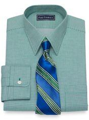 Slim Fit Cotton Textured Solid Dress Shirt