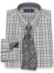 Slim Fit Cotton Gingham Dress Shirt