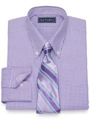 Slim Fit Cotton Check Dress Shirt