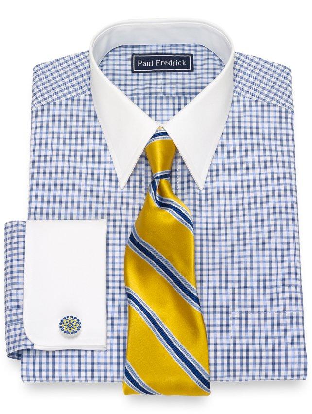 Cotton Check Dress Shirt