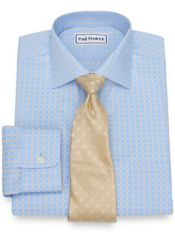 Non-Iron Cotton Satin Check Dress Shirt