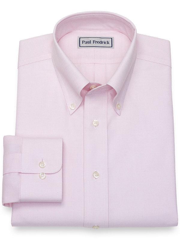 Impeccable Non-Iron Cotton Textured Pattern Dress Shirt