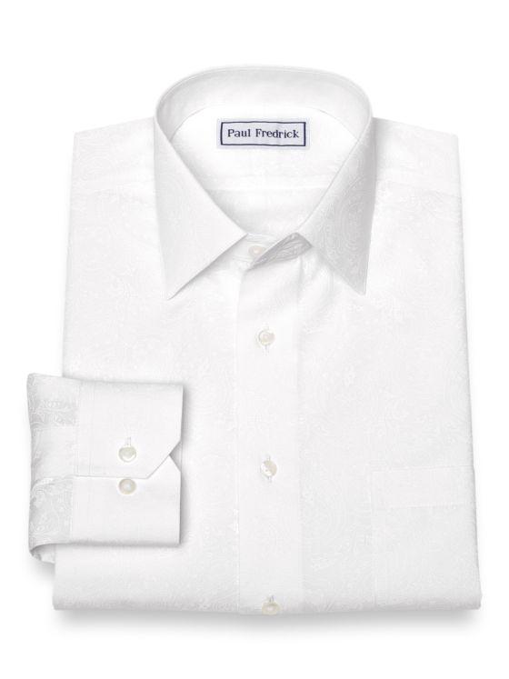 Non-Iron Cotton Paisley Dress Shirt