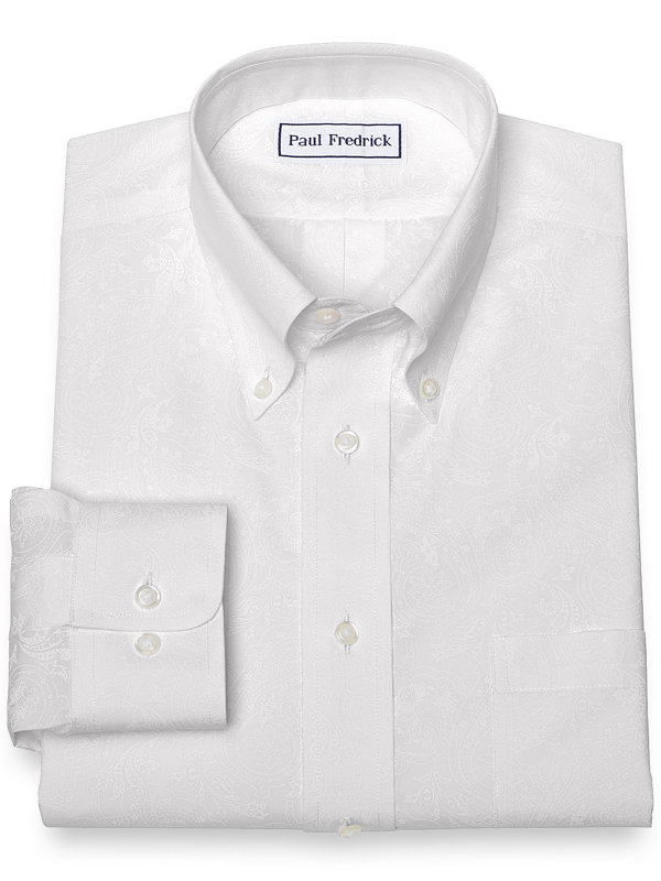 Non-Iron Cotton Paisley Dress Shirt