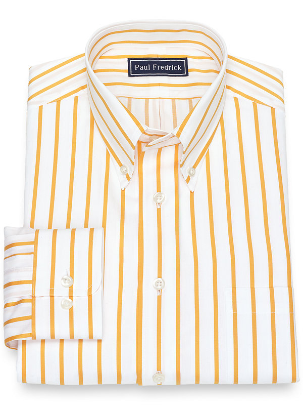 Pure Cotton Broadcloth Satin Stripe Dress Shirt