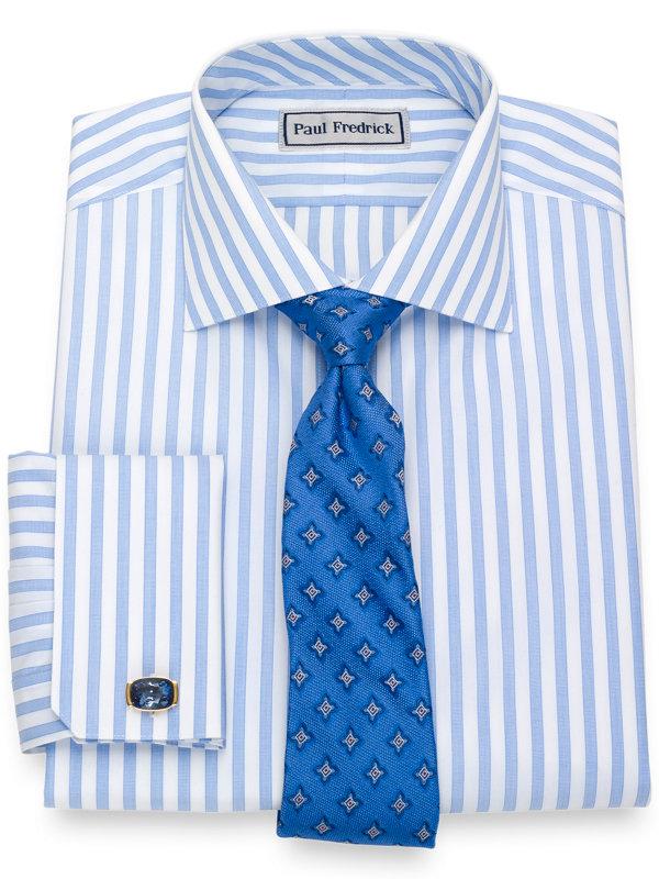 Impeccable Non-Iron Cotton Broadcloth Stripe Dress Shirt