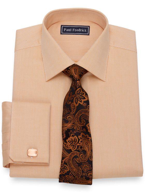 Pure Cotton Broadcloth Diamond Pattern Dress Shirt
