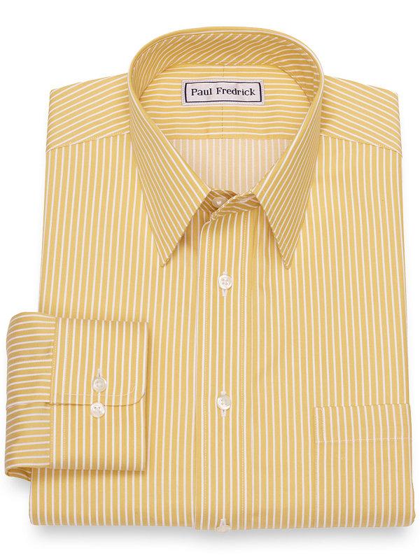 Impeccable Non-Iron Cotton Satin Stripe Dress Shirt