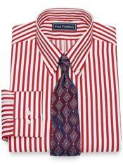 Slim Fit Pure Cotton Broadcloth Satin Stripe Dress Shirt