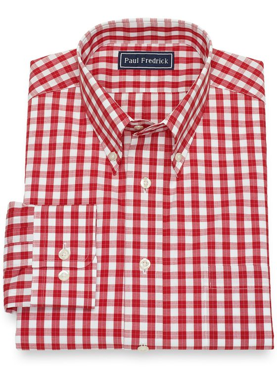 Pure Cotton Broadcloth Check Dress Shirt