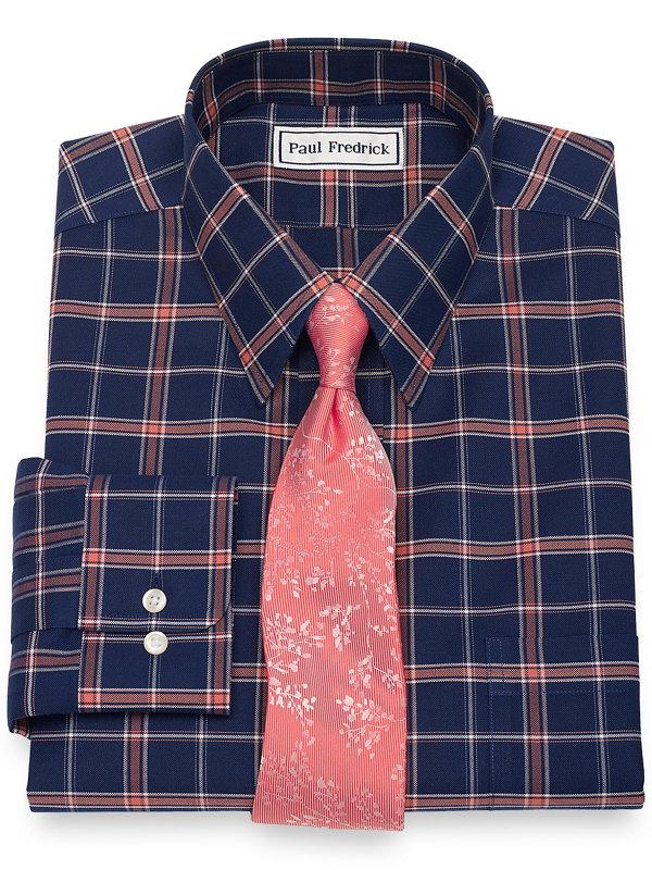 Supima Non-Iron Cotton Check Dress Shirt