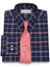 Slim Fit Supima Non-Iron Cotton Check Dress Shirt