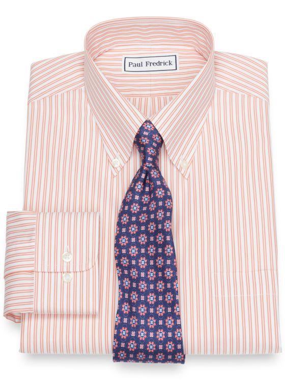 Supima Non-Iron Cotton Twin Stripe Dress Shirt