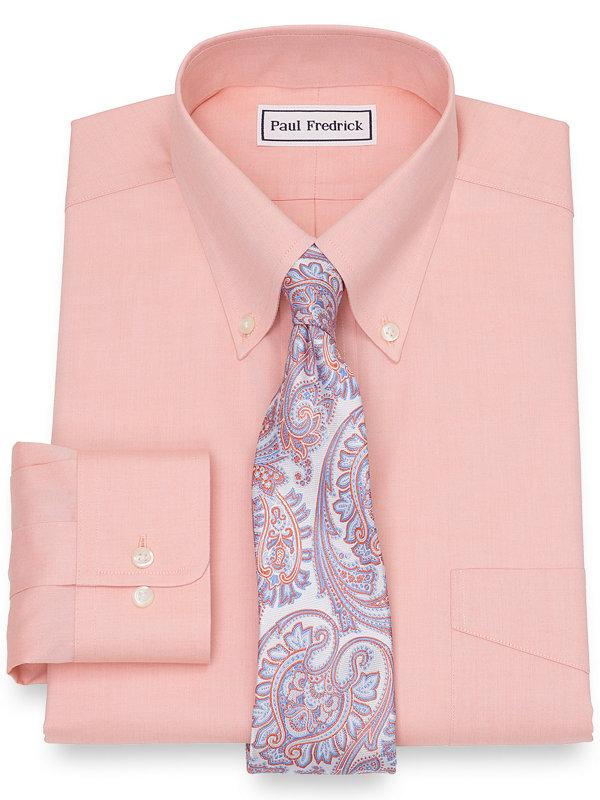 Slim Fit Supima Non-Iron Cotton Solid Color Dress Shirt