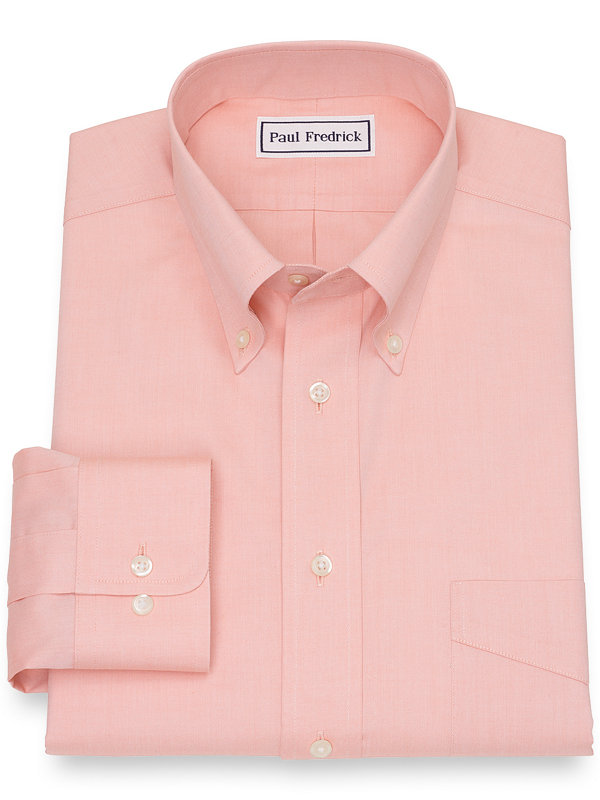 Slim Fit Supima Non-Iron Cotton Solid Color Dress Shirt