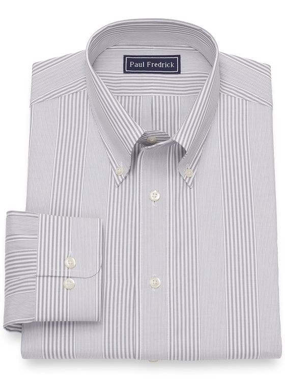 Pure Cotton Broadcloth Stripe Dress Shirt